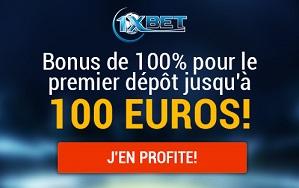 1XBET promo 100 eurosbv